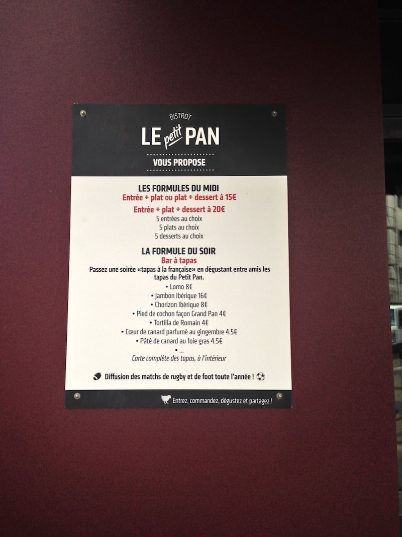 le-petit-pan-menu