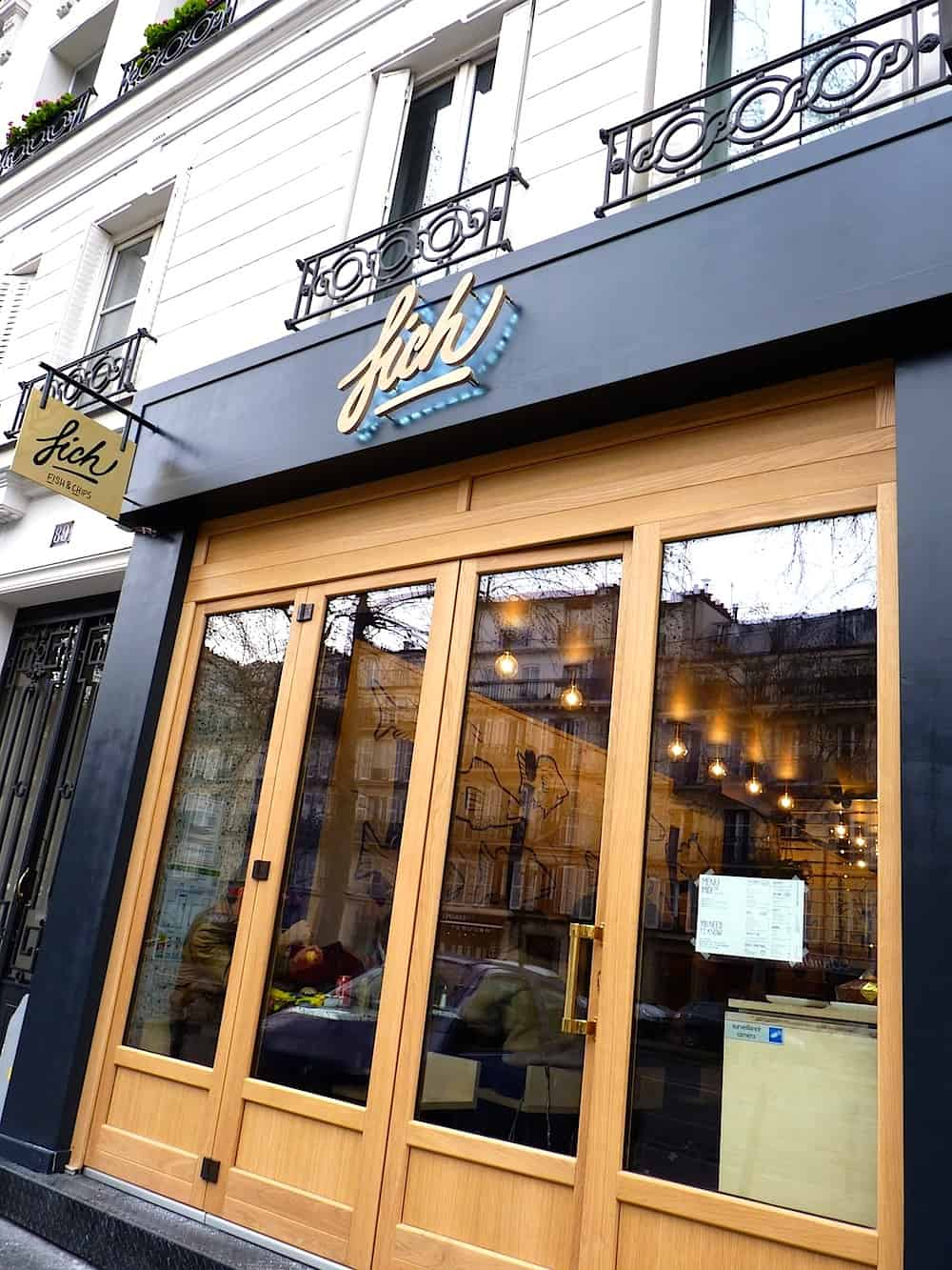 FICH, fish and chips boulevard Beaumarchais