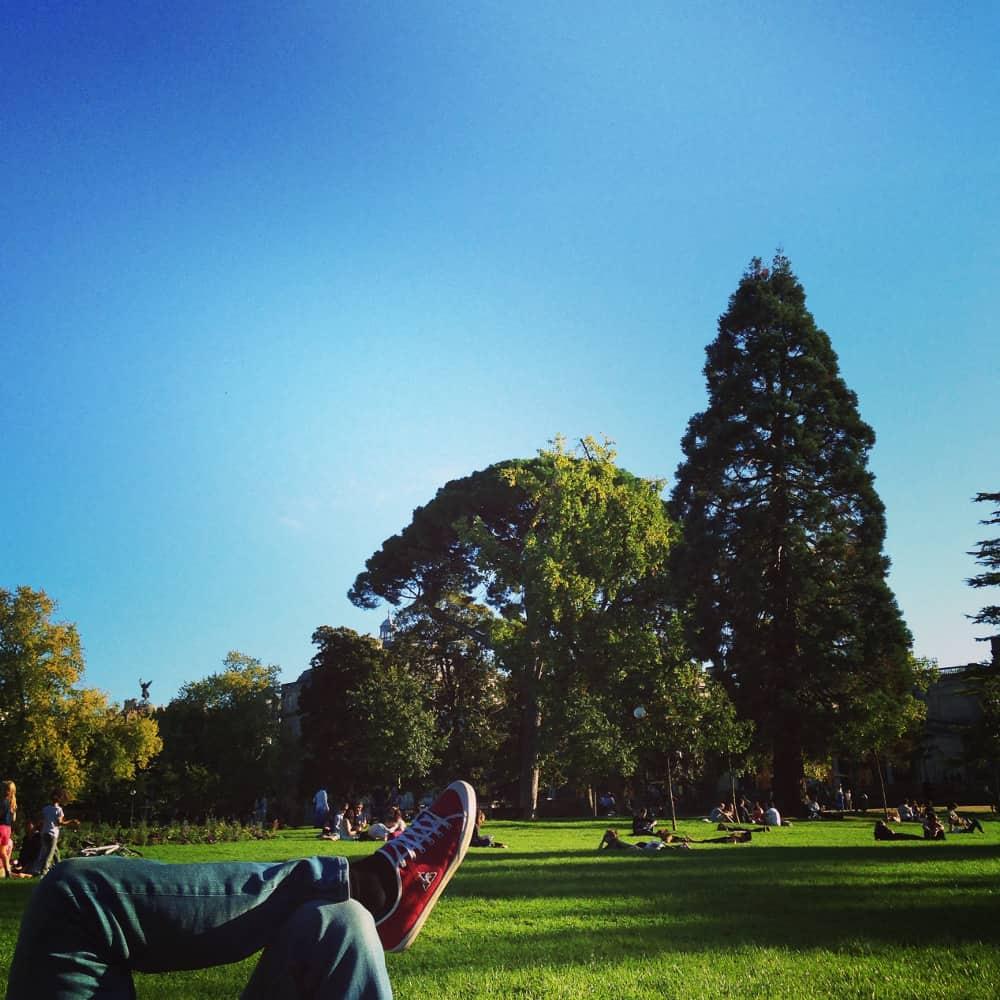 Une pause au Jardin Public