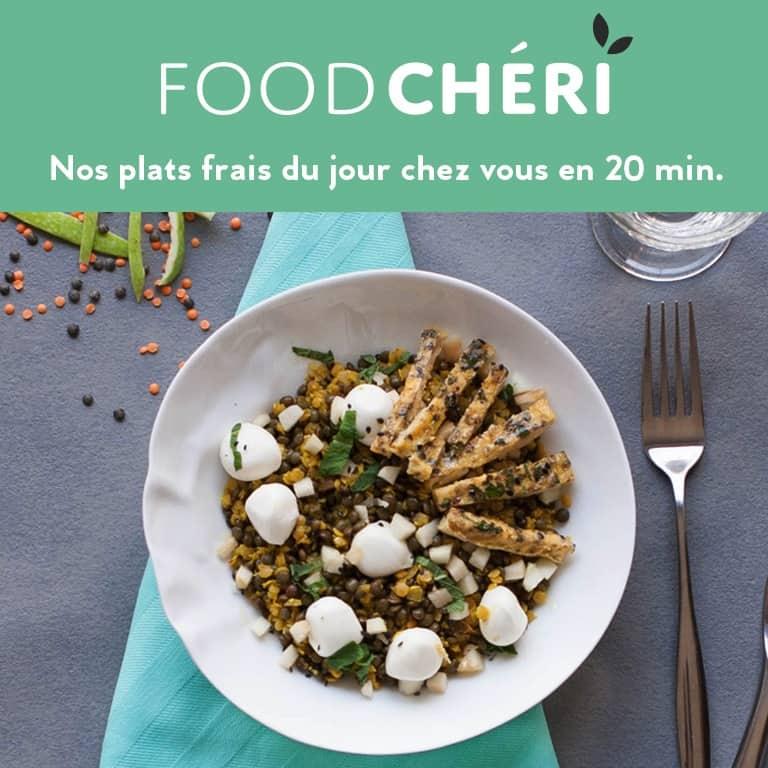 FoodChéri – un plat sain et frais livré chez vous pour 9,90€