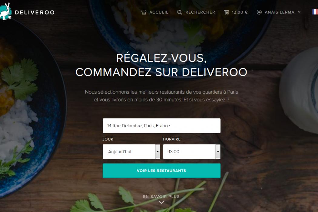 Deliveroo - Faites vous livrer les meilleurs restaurants de Paris