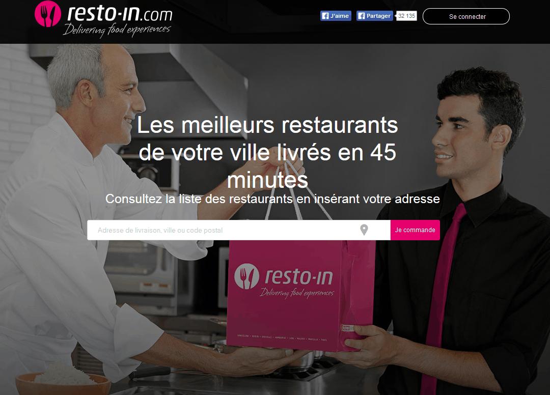 Livraison de repas à domicile & au bureau - Resto-in France