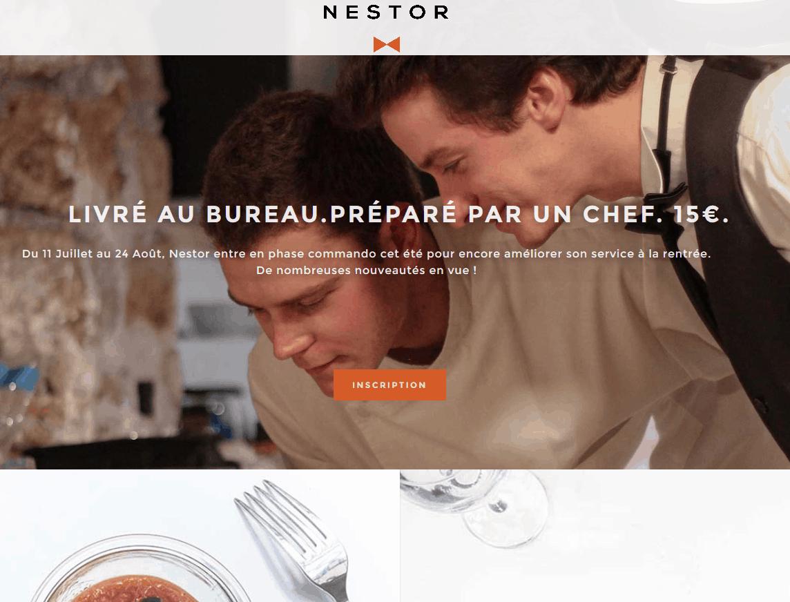 Nestor - Livraison de plats préparés par des Chefs