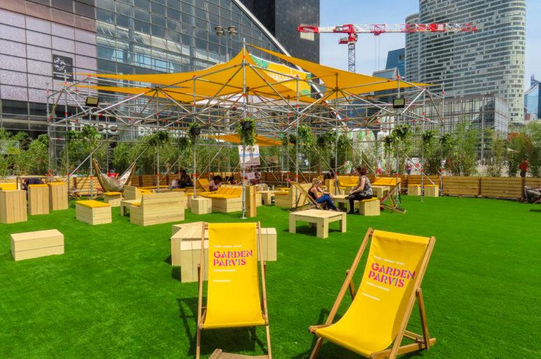 Garden Parvis, food court, musique et ateliers kids sur le parvis de la Défense