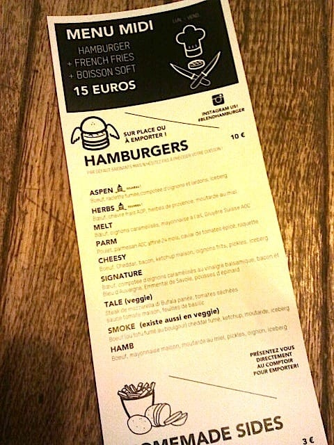 carte Blend Hamburger