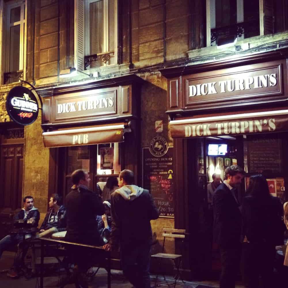 Le Dick Turpin, un des plus vieux pubs de Bordeaux