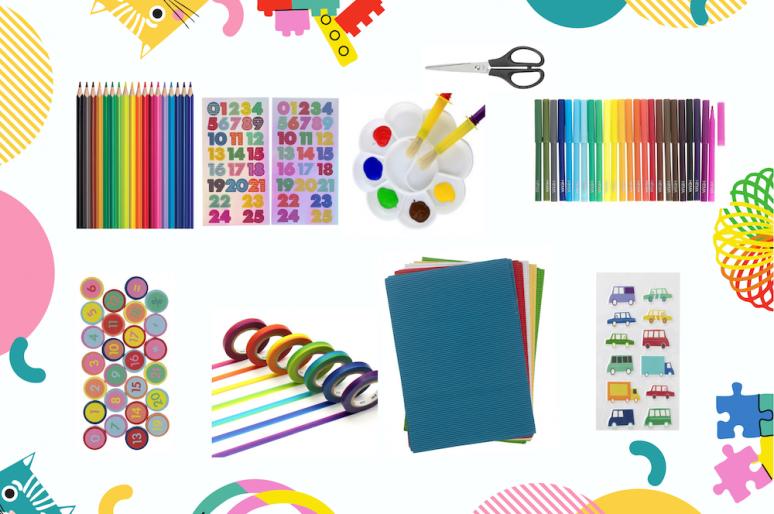 Matériel d'activités, arts plastiques et jeux pour les enfants de 2 à 6 ans